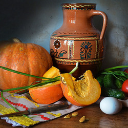 Jigsaw puzzle: Still life with pumpkin