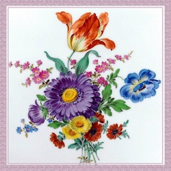 Jigsaw puzzle: Flowers on porcelain