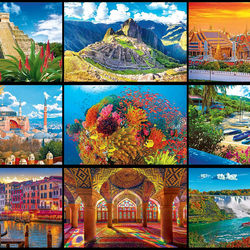 Jigsaw puzzle: Great trip around the world