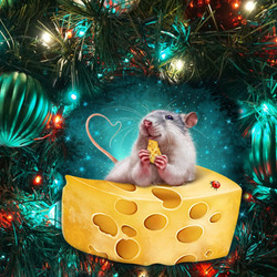 Jigsaw puzzle: Mouse in cheese