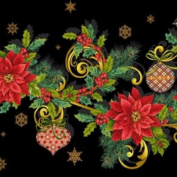 Jigsaw puzzle: Christmas patterns