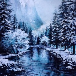 Jigsaw puzzle: Winter river