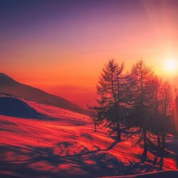 Jigsaw puzzle: Winter sunrise in Italy