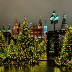 Jigsaw puzzle: New year lights of the cities of the world