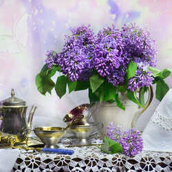 Jigsaw puzzle: Lilac mood