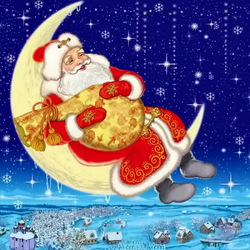 Jigsaw puzzle: Santa Claus is resting