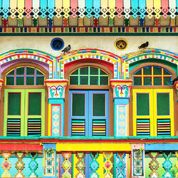 Jigsaw puzzle: Little India in Singapore