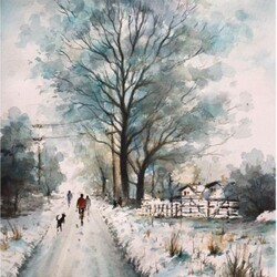 Jigsaw puzzle: Winter walk