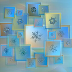 Jigsaw puzzle: Collage of snowflakes