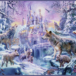 Jigsaw puzzle: Wolf castle