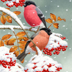 Jigsaw puzzle: Bullfinches