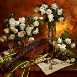 Jigsaw puzzle: Still life with violin
