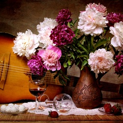 Jigsaw puzzle: Still life with a guitar