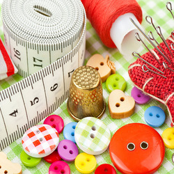 Jigsaw puzzle: Sewing accessories