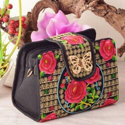 Jigsaw puzzle: Small embroidered handbag