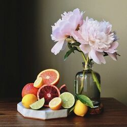 Jigsaw puzzle: Peonies with citrus