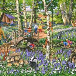 Jigsaw puzzle: Walk in the woods