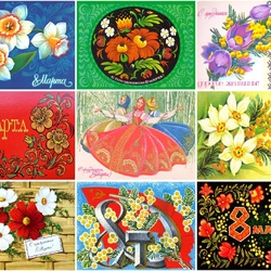 Jigsaw puzzle: Eight March postcards