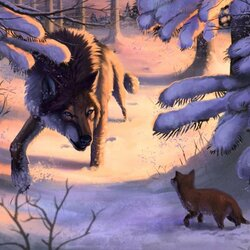 Jigsaw puzzle: Wolf and fox