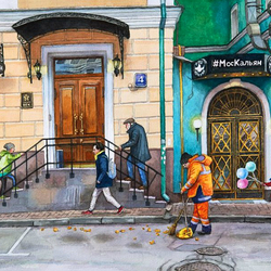 Jigsaw puzzle: On the streets of Moscow