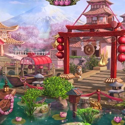 Jigsaw puzzle: Spring in the tea house