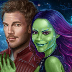 Jigsaw puzzle: Gamora and Quill