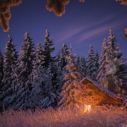 Jigsaw puzzle: Winter evening