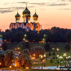 Jigsaw puzzle: Evening Yaroslavl