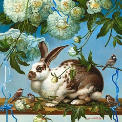 Jigsaw puzzle: Cute rabbit