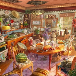 Jigsaw puzzle: Kitchen mess