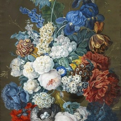 Jigsaw puzzle: Bouquet in blue tones