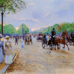 Jigsaw puzzle: On the Champs Elysees