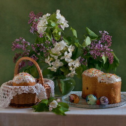Jigsaw puzzle: Easter still life