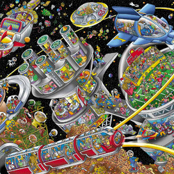 Jigsaw puzzle: Space colonies
