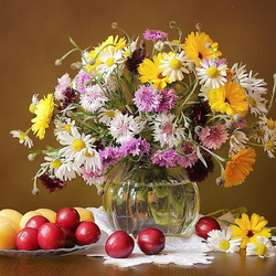 Jigsaw puzzle: Flowers and fruits