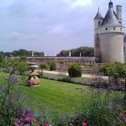 Jigsaw puzzle: View of the Chenonceau castle