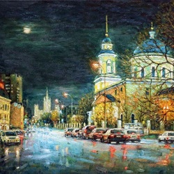 Jigsaw puzzle: It's night in the city