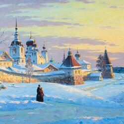 Jigsaw puzzle: Solovki in winter