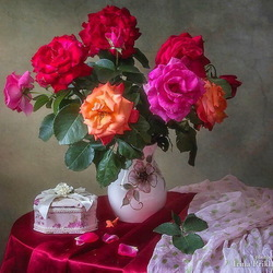 Jigsaw puzzle: Bouquet of roses