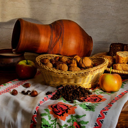 Jigsaw puzzle: Rustic food
