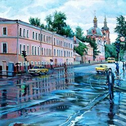 Jigsaw puzzle: Summer rain in Moscow
