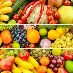 Jigsaw puzzle: Vegetables and fruits