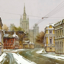 Jigsaw puzzle: Moscow street