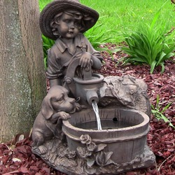 Jigsaw puzzle: Garden fountains