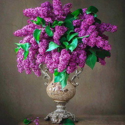 Jigsaw puzzle: Vase with lilac