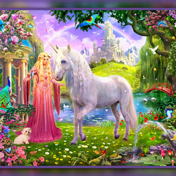 Jigsaw puzzle: Virgo and unicorn