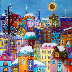 Jigsaw puzzle: Winter town