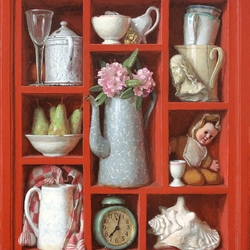 Jigsaw puzzle: Red shelves