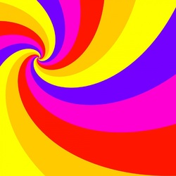 Jigsaw puzzle: Colored spiral