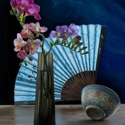 Jigsaw puzzle: Still life with a fan